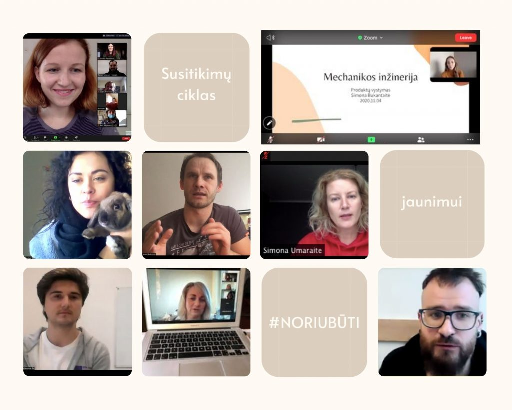 Susitikimų ciklas jaunimui #NORIUBŪTI – įdomūs profesijų atstovai ir vertinga patirtis